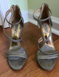 Badgley Mischka Silver Landmark Dress Sandal 7.5 M silver? platino? wedding
