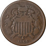 1864 Two (2) Cent Piece Small Motto Nice G Key Date Nice Eye Appeal Nice Strike