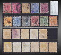 1882-1894 STRAITS SETTLEM. QUEEN VICTORIA USED LOT SCT.41 43-5 47 49-51 53-4 56