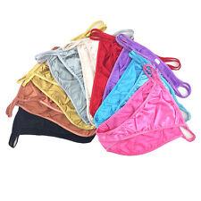 3 5 10 Pcs Lot Women's Sexy Satin Bikini Briefs Panties Fashion Underwear,S-3XL