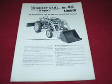 International Harvester Wagner No.45 Loader for Cub Tractor Dealer's Brochure