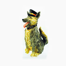 Police Dog Blue Hats Bravery Candle Holder Blue Sky Clayworks Heather Goldminc