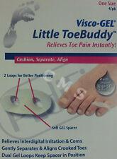 PediFix Visco-Gel LITTLE ToeBuddy Toe Pain Spacer Aligner 4/PK Buddy Separator !