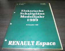 Werkstatthandbuch Elektrik Renault Espace I  Schaltpläne ab Baujahr 12/1988
