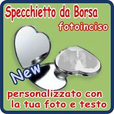 SPECCHIETTO Cuore Silver Plated PERSONALIZZATO!!!