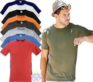 T-shirt ADERENTE Uomo/Man FRUIT OF THE LOOM Maglia MAGLIETTA Manica Corta SLIM