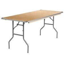 Flash 30'' x 72'' Rectangular HEAVY DUTY Birchwood Folding Banquet Table