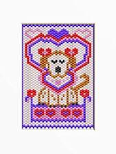 Valentine Puppy~Beaded Banner Pattern
