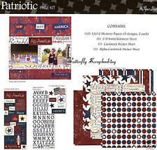PATRIOTIC USA 12X12 Scrapbooking Kit Paper Studio NEW