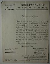 Goyon de Vaudurant. Pension Militaire 1789. D.Hemery. Chevalier De St Louis.
