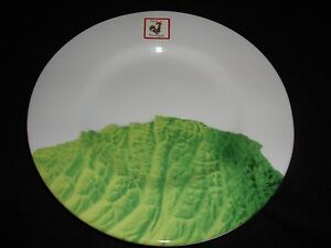 """NEW  BORDALLO CABBAGE WHITE & GREEN SET OF 4 ACCENT SALAD PLATES 8.75"""""""
