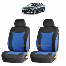 BLUE SPEED AIRBAG COMPATIBLE FRONT LOWBACK SEAT COVERS SET for MAZDA 3 6 CX-7