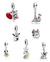 NEW PANDORA DISNEY Pendant Charm • Minnie & Mickey Charms • Genuine S925 Silver