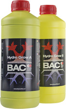 BAC B.A.C HYDRO GROW AB 2x1 LITRES TOP FLOWER NUTRIENTS FROM HOLLAND No1 IN EU