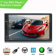7'' 2 DIN Car Stereo MP3 MP5 Player Bluetooth With LED Night Vision Rear Camera