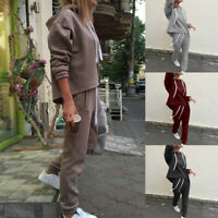 2PCS/Set Tops Tracksuit Sweatshirt Suit Hoodies Track Pants Sweat Sports Casual