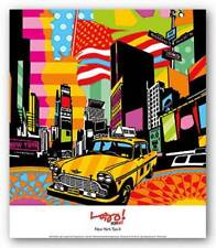 New York Taxi II Lobo Abstract Art Print 12x12
