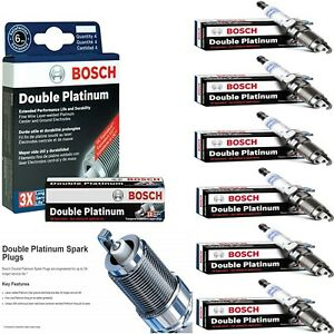 6 Bosch Double Platinum Spark Plugs For 1992-1994 AUDI 100 QUATTRO V6-2.8L
