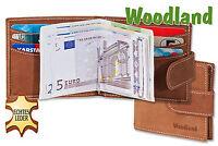 Woodland Porte-Monnaie Pince à Billets Du non Traité Cuir en Marron Clair