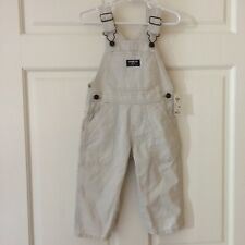 NEW Oshkosh B'gosh Overalls Pants (Size 18 M) Light Color...