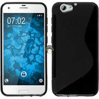 Black S Line Soft Gel TPU Silicone Case Cover Skin For HTC One A9s