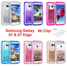 Samsung Galaxy S7 and S7 Edge Liquid Glitter Defender Case {Clip Fits Otterbox}