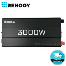 Renogy 3000W 12V Pure Sine Wave Inverter 3000 Watt Solar Power Battery Converter