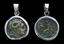 Alxander Der Große & Athena Antike Münze Anhänger Silber Gothic Schmuck - NEU
