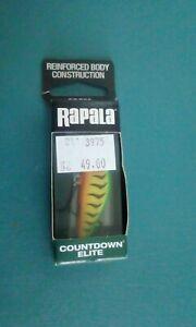 Rapala Cde55 Gdft Golfed Fire Tiger Minnow New In Box..