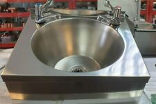 More details for stainless steel hand sink with lever taps and waste.(400mm w 300mm d 150mm high)