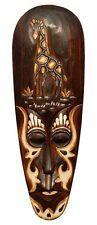 Schöne 50 cm Wand Maske Giraffe Tribal Maori Holz Tier Afrika Maske 60