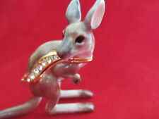 KANGAROO   ~JOEY   ~   JEWELED & ENAMEL TRINKET BOX ~ BOUTIQUE MINIATURE 61186