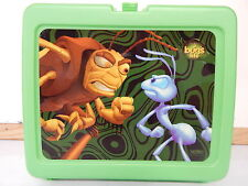 DISNEY PIXAR A BUGS LIFE PLASTIC LUNCH BOX WITH THERMOS WHAT'S BUGGING YOU