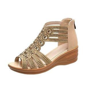 Sandalias De Mujer Zapatillas De Plataforma Moda De Verano Roma Casual Elegante