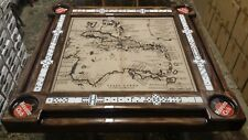 Vintage Carribean Map Domino Table by Domino Tables by Art