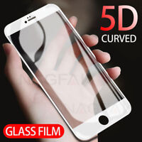 5D Curved Full Coverage Tempered Glass Screen Protector For iPhone X 8 7 6 Plus