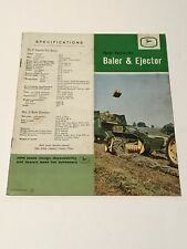 1960's JOHN DEERE TRACTOR 24T BALER & EJECTOR DEALERS PROMOTIONAL CATALOG MANUAL