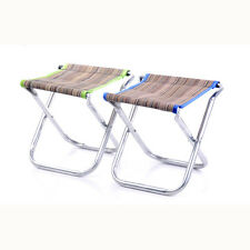 Portable Folding Aluminum Chair Outdoor Fishing Camping Travel Picnic Stool SZHK