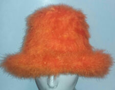 Orange Marabou Feather Foam Costume Top Hat
