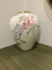 Lenox Chatsworth Vase Small With Pink Flowers On Both Sides