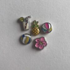 NEW Floating Locket Charms * Beach Vacation Set 1 *
