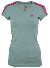adidas Patternless Short Sleeve Basic T-Shirts for Women