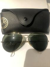 Ray-Ban Aviator Sunglasses RB 3026 gold shine Frame Classic green Lens 62mm