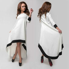 Collar Cotton Blend 3/4 Sleeve Plus Size Dresses for Women