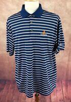 Nike Golf Dri Fit Polo Short Sleeve Tatum Ranch Logo Blue Stripe Shirt Men's XL