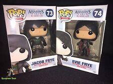 Funko Pop Games Assassins Creed Jacob Frye #73 and Evie Frye #74 figure Set