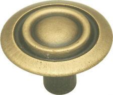 "Belwith P120-Ab Antique Brass 1-1/8"" Diam. Cabinet Door Round Knob - Pack of 4"