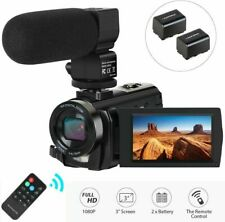 Camcorder Video Camera, Digital Camera with Microphone 1080P 30FPS 24MP FHD