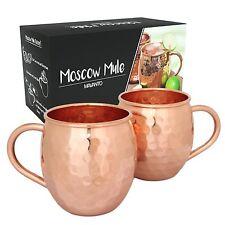 2x Moscow Mule Becher Tassen Kupferbecher HANDARBEIT 100% Kupfer Moskau Mule