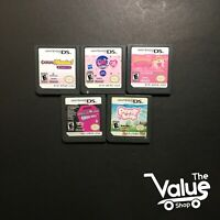 Lot of 5 Nintendo DS Games for Girls - Casual Mania, iPony Luv, & More